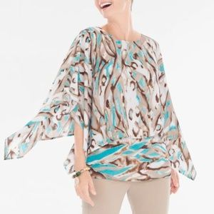 NWT Chico's Watercolor Layered Top 16 XL Petite